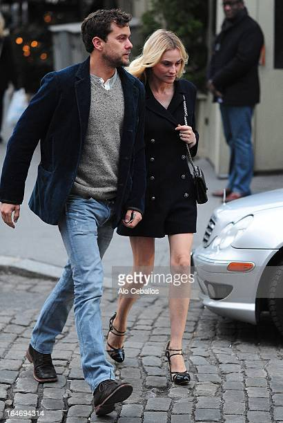 Diane Kruger and Joshua Jackson are seen in the West Village on March 26 2013 in New York City