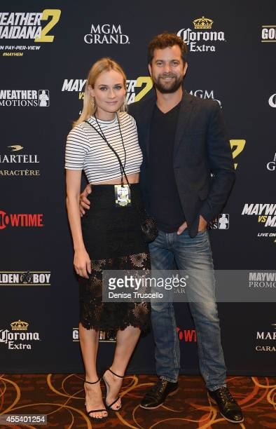 Diane Kruger and Joshua Jackson arrive at Showtime's VIP prefight party for 'MAYHEM MAYWEATHER VS MAIDANA 2' at MGM Grand Garden Arena on September...
