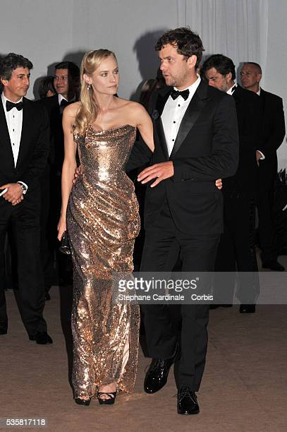 Diane Kruger and Joshua Jackson at 65th Anniversary Party during the 65th Cannes International Film Festival