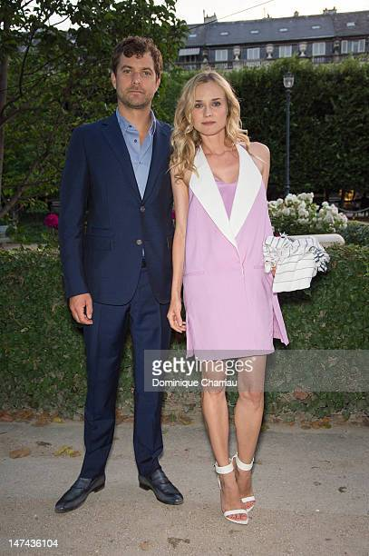 Diane Kruger and Joshua Jackson attend the Berluti Private Dinner as part of Paris Fashion Week at Jardin du Palais Royal on June 29 2012 in Paris...