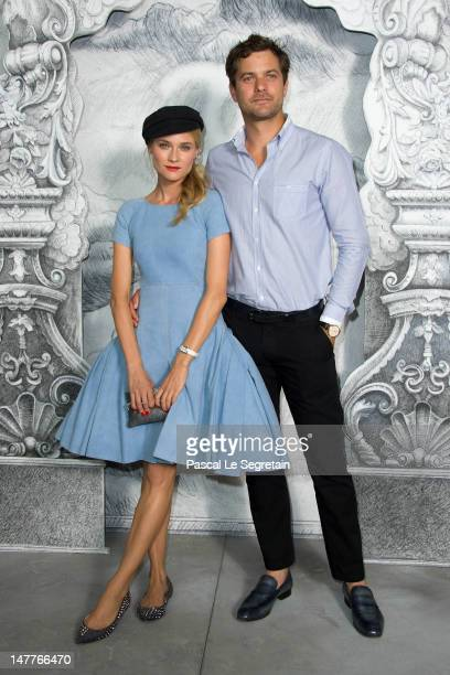 Diane Kruger and Joshua Jackson attend the Chanel HauteCouture show as part of Paris Fashion Week Fall / Winter 2012/13 at the Grand Palais on July 3...