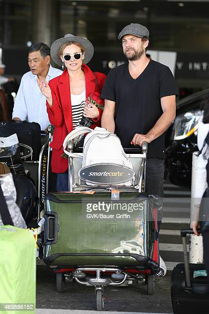 Diane Kruger and Joshua Jackson seen at LAX on April 15 2015 in Los Angeles California