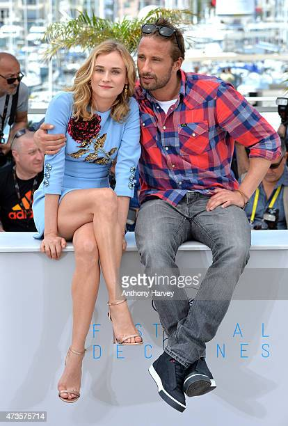 Diane Kruger and Matthias Schoenaerts attend the Disorder photocall during the 68th annual Cannes Film Festival on May 16 2015 in Cannes France