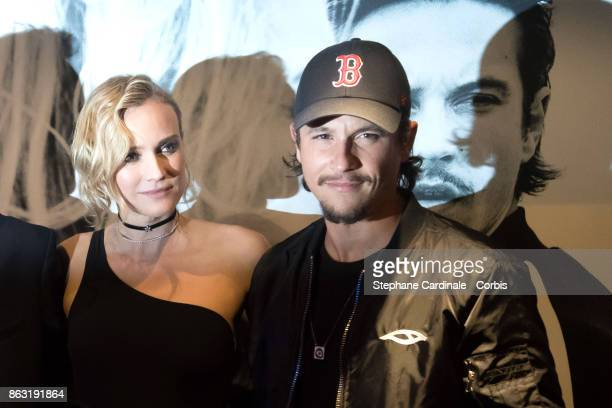 Diane Kruger and Nekfeu attend the Tout Nous Separe Paris Premiere at UGC Cine Cite Bercy on October 19 2017 in Paris France