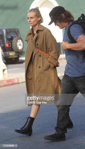 Diane Kruger and Norman Reedus are seen on February 24 2020 in Los Angeles California