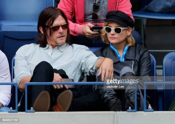 Diane Kruger and Norman Reedus at Arthur Ashe Stadium on September 10 2017 in New York City