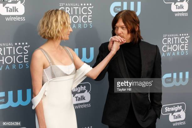 Diane Kruger and Norman Reedus attend the 23rd Annual Critics' Choice Awards at Barker Hangar on January 11, 2018 in Santa Monica, California.