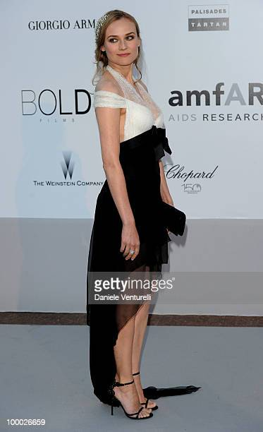 Diane Kruger arrives at amfAR's Cinema Against AIDS 2010 benefit gala at the Hotel du Cap on May 20, 2010 in Antibes, France.
