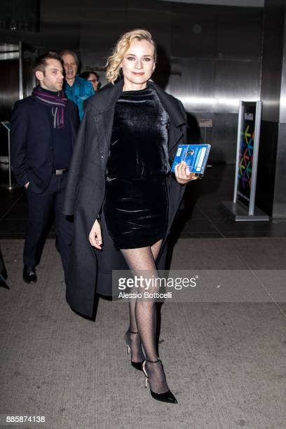 Diane Kruger arrives at MOMA for a screening on December 4 2017 in New York New York