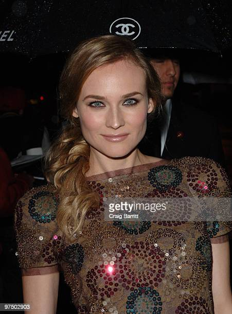 Diane Kruger arrives at the Chanel And Charles Finch PreOscar Party Celebrating Fashion And Film at Madeo Restaurant on March 6 2010 in Los Angeles...