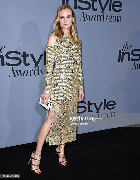 Diane Kruger arrives at the InStyle Awards at Getty Center on October 26 2015 in Los Angeles California