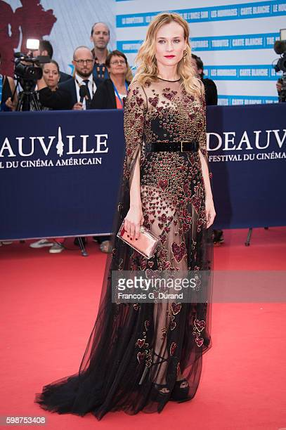 Diane Kruger arrives at the opening ceremony of the 42nd Deauville American Film Festival on September 2 2016 in Deauville France