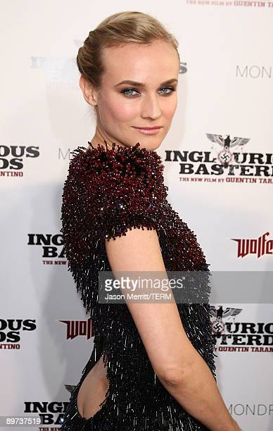 Diane Kruger arrives at the premiere of Weinstein Co's 'Inglourious Basterds' held at Grauman's Chinese Theatre on August 10 2009 in Hollywood...