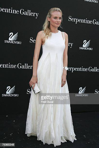 Diane Kruger arrives at The Serpentine Gallery Summer Party on July 11 2007 in London England