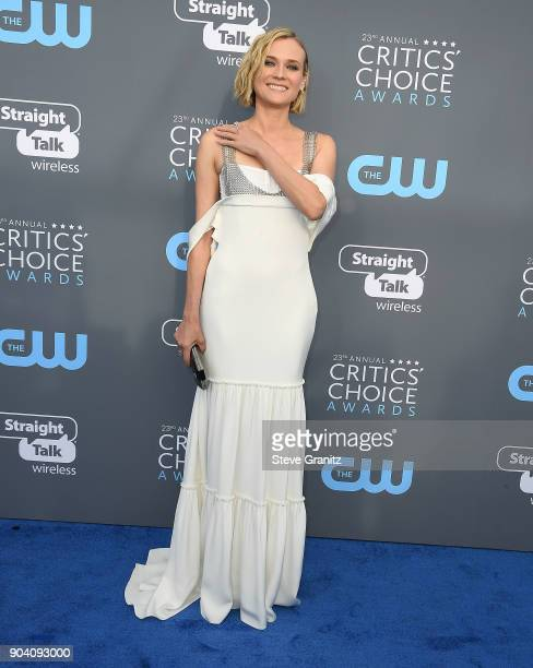 Diane Kruger arrives at the The 23rd Annual Critics' Choice Awards at Barker Hangar on January 11 2018 in Santa Monica California