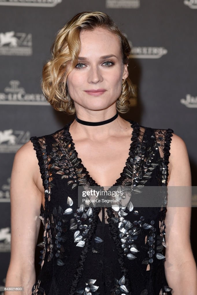 Diane Kruger arrives for the Jaeger-LeCoultre Gala Dinner during the 74th Venice International Film Festival at Arsenale on September 5, 2017 in Venice, Italy.