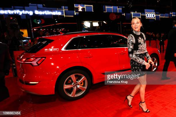 Diane Kruger arrives in Audi etron car for the 'The Golden Glove' premiere during the 69th Berlinale International Film Festival at Berlinale Palace...