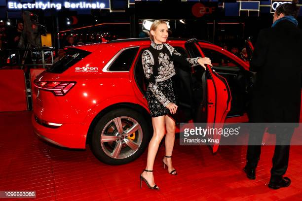 Diane Kruger arrives in Audi etron car for the The Golden Glove premiere during the 69th Berlinale International Film Festival at Berlinale Palace on...