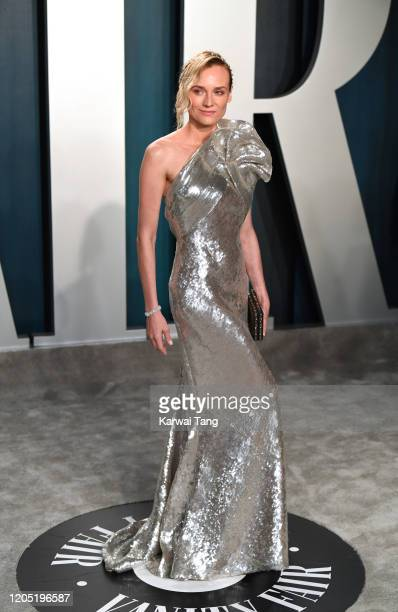 Diane Kruger arriving for the 2020 Vanity Fair Oscar Party Hosted By Radhika Jones at the Wallis Annenberg Center for the Performing Arts on February...