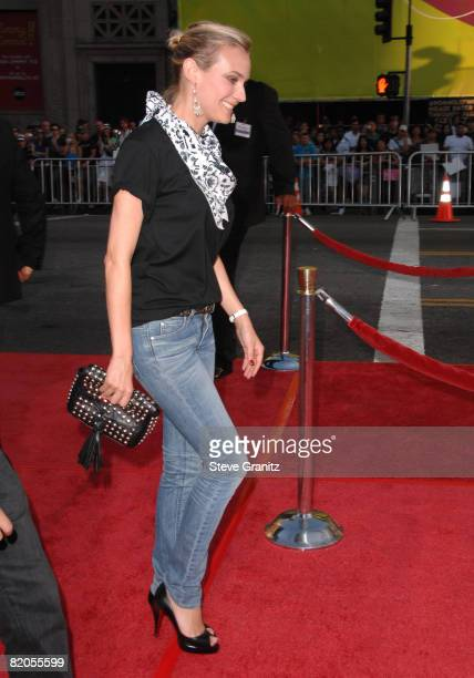 Diane Kruger at the Mann's Grauman Chinese Theatre on July 23 2008 in Hollywood California