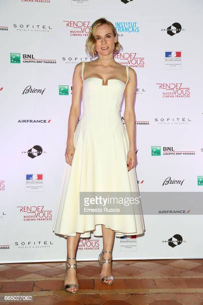 Diane Kruger attend the Rendez Vous French Movies Festival 2017 opening ceremony at French Embassy on April 5 2017 in Rome Italy