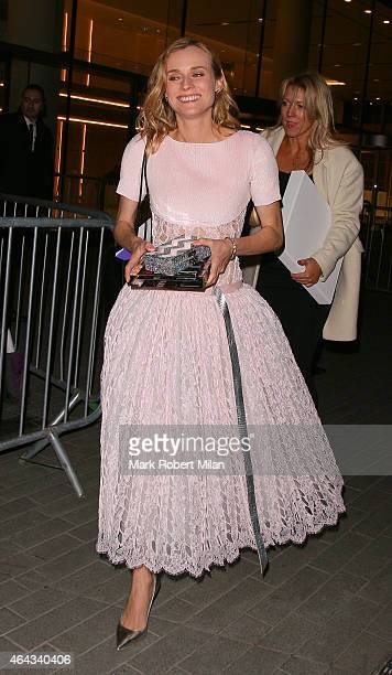 Diane Kruger attending the Elle Style Awards on February 24 2015 in London England