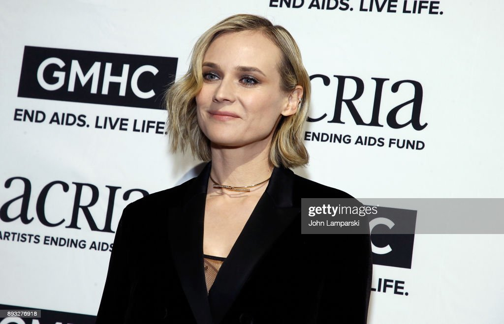 Diane Kruger attends ACRIA's 22nd annual holiday dinner at Cipriani 25 Broadway on December 14, 2017 in New York City.