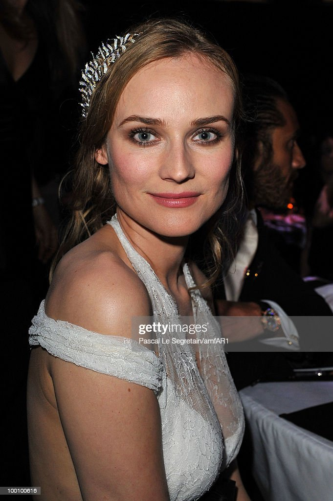 Diane Kruger attends amfAR's Cinema Against AIDS 2010 benefit gala dinner at the Hotel du Cap on May 20, 2010 in Antibes, France.