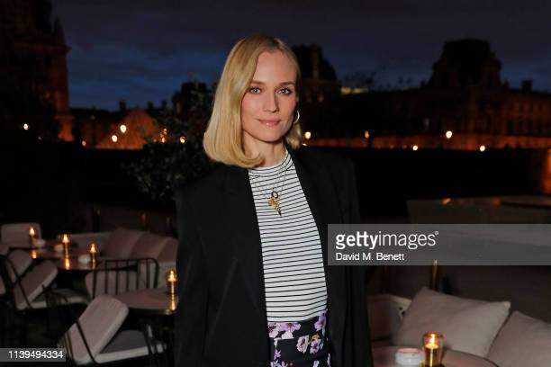Diane Kruger attends attends an intimate dinner hosted by Formula E CEO Alejandro Agag ahead of the ABB FIA Formula E Paris E-Prix at Loulou...