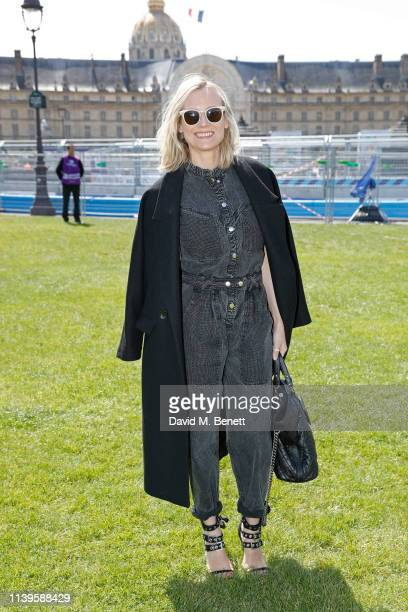 Diane Kruger attends attends the ABB FIA Formula E Paris E-Prix 2019 on April 27, 2019 in Paris, France.