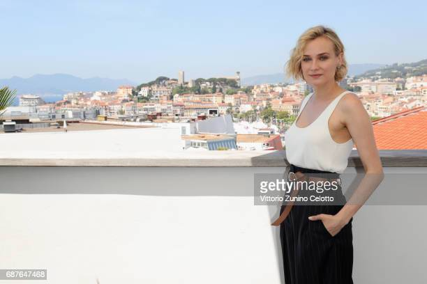 Diane Kruger attends Kering Talks Women In Motion At The 70th Cannes Film Festival at Hotel Majestic on May 24, 2017 in Cannes, France.