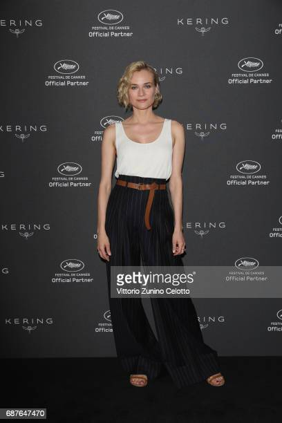 Diane Kruger attends Kering Talks Women In Motion photocall At The 70th Cannes Film Festival at Hotel Majestic on May 24, 2017 in Cannes, France.