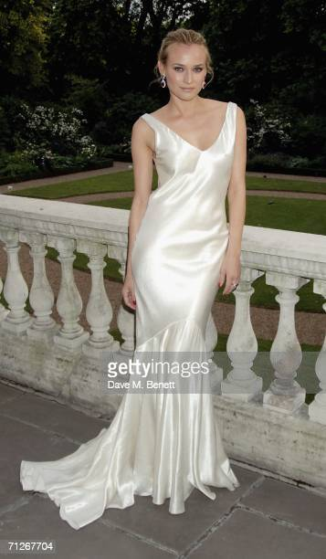 Diane Kruger attends private party to celebrate the American fashion designer's partnership with Wimbledon tennis tournament at Spencer House on June...