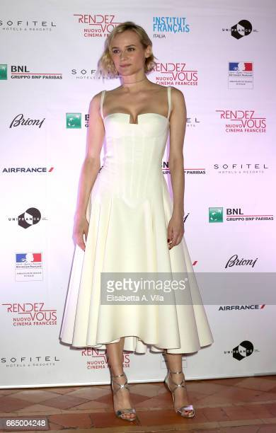 Diane Kruger attends RendezVous French Movies Festival 2017 Opening Gala at French Embassy on April 5 2017 in Rome Italy
