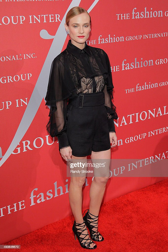 Diane Kruger attends the 2015 Fashion Group International Night Of Stars Gala at Cipriani Wall Street on October 22, 2015 in New York City.
