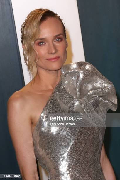 Diane Kruger attends the 2020 Vanity Fair Oscar Party at Wallis Annenberg Center for the Performing Arts on February 09 2020 in Beverly Hills...