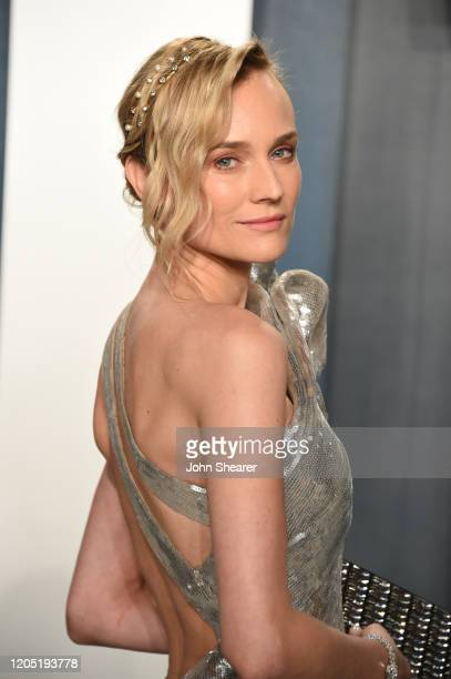 Diane Kruger attends the 2020 Vanity Fair Oscar Party hosted by Radhika Jones at Wallis Annenberg Center for the Performing Arts on February 09, 2020...
