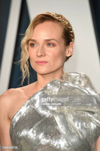 Diane Kruger attends the 2020 Vanity Fair Oscar party hosted by Radhika Jones at Wallis Annenberg Center for the Performing Arts on February 09 2020...