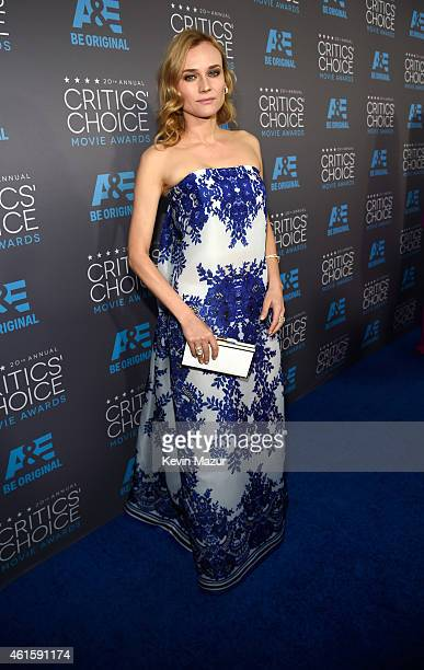 Diane Kruger attends the 20th annual Critics' Choice Movie Awards at the Hollywood Palladium on January 15 2015 in Los Angeles California
