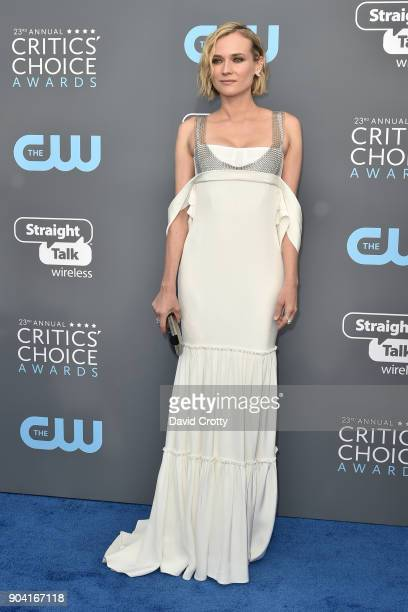 Diane Kruger attends The 23rd Annual Critics' Choice Awards Arrivals at The Barker Hanger on January 11 2018 in Santa Monica California