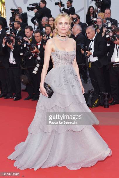 Diane Kruger attends the 70th Anniversary screening during the 70th annual Cannes Film Festival at Palais des Festivals on May 23, 2017 in Cannes,...