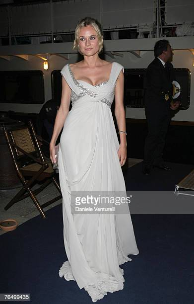 Diane Kruger attends the Alberta Ferretti Boat Party during Day 6 of the 64th Annual Venice Film Festival on September 3 2007 in Venice Italy