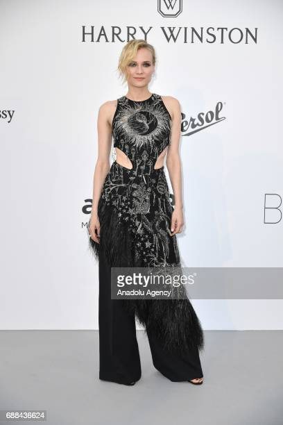 Diane Kruger attends the Amfar Gala Cannes 2017 at Hotel du CapEdenRoc on May 25 2017 in Cap d'Antibes France on May 25 2017