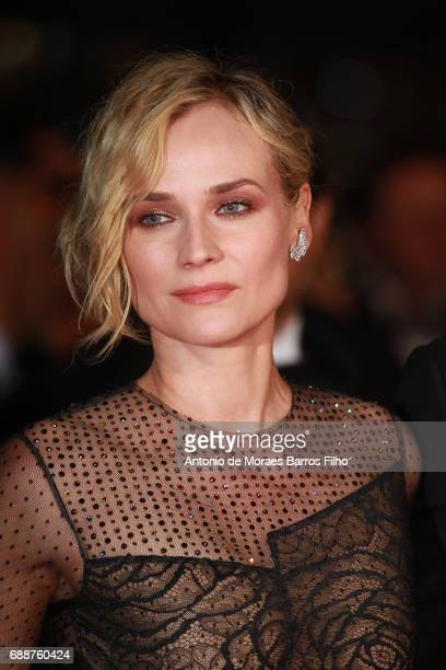 Diane Kruger attends the 'Aus Dem Nichts ' screening during the 70th annual Cannes Film Festival at Palais des Festivals on May 26 2017 in Cannes...