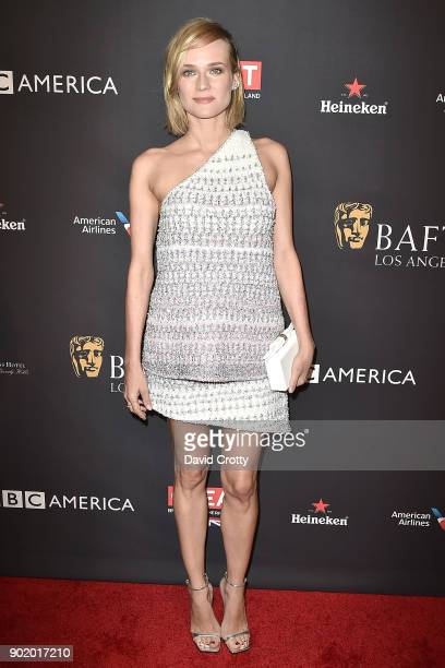 Diane Kruger attends The BAFTA Los Angeles Tea Party Arrivals at Four Seasons Hotel Los Angeles at Beverly Hills on January 6 2018 in Los Angeles...