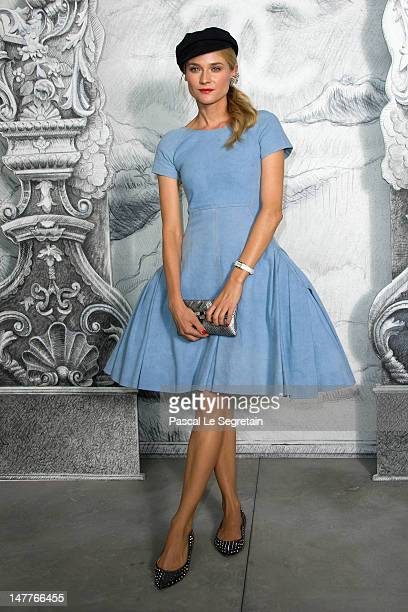 Diane Kruger attends the Chanel HauteCouture show as part of Paris Fashion Week Fall / Winter 2012/13 at the Grand Palais on July 3 2012 in Paris...