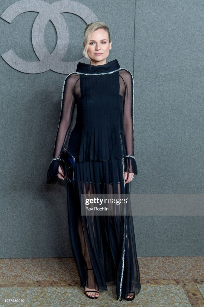063bbbd9a50 Diane Kruger attends the Chanel Metiers D Art 2018 19 Show at The ...