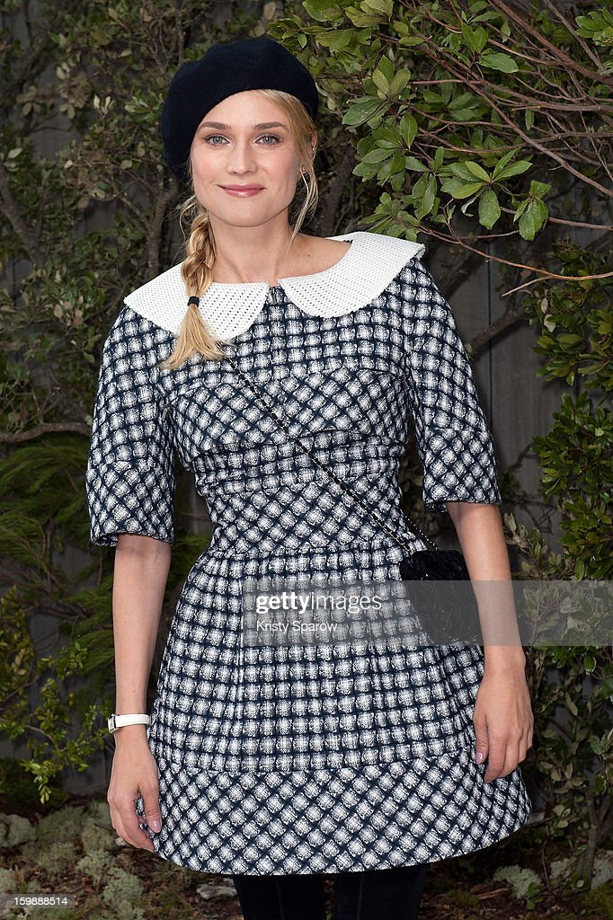 Diane Kruger attends the Chanel Spring/Summer 2013 Haute-Couture show as part of Paris Fashion Week at Grand Palais on January 22, 2013 in Paris, France.