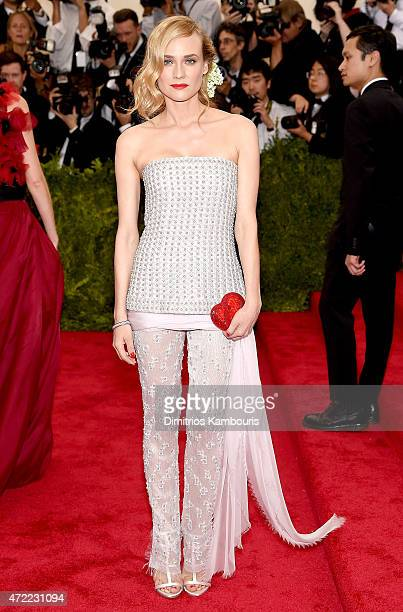Diane Kruger attends the 'China Through The Looking Glass' Costume Institute Benefit Gala at the Metropolitan Museum of Art on May 4 2015 in New York...