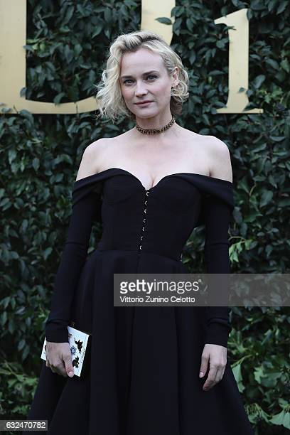 Diane Kruger attends the Christian Dior Haute Couture Spring Summer 2017 show as part of Paris Fashion Week at Musee Rodin on January 23 2017 in...